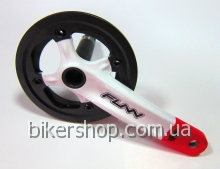 Шатуны Funn Arrow BOB Single chainring 32AL/AL.Guard White/Red