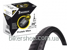 "Камера Michelin C4 26"" 26X1.85-2.3 Presta 40mm PROTEK MAX с герметиком"