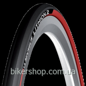 Покрышка Michelin Lithion 2 Black&Red 700X23C