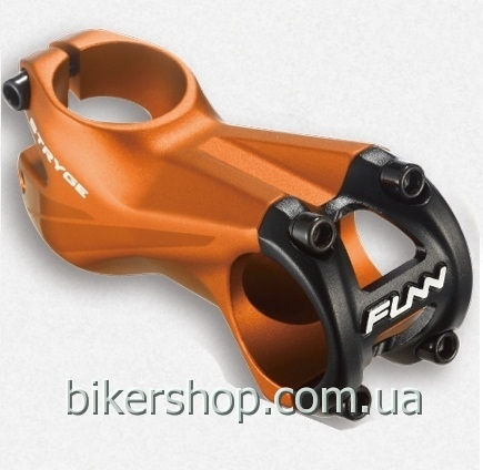 "Вынос Funn STRYGE STEM -5˚Ø35 , -5° Rise, Steer 1-1/8"" Bead Blast Orange w/mirror polish 55mm Ø35mm"