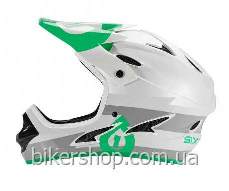 Шлем фулл COMP BOLT HELMET GRAY/GREEN S (CE)