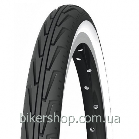 Покрышка Michelin City Junior 20X1.75 black/white