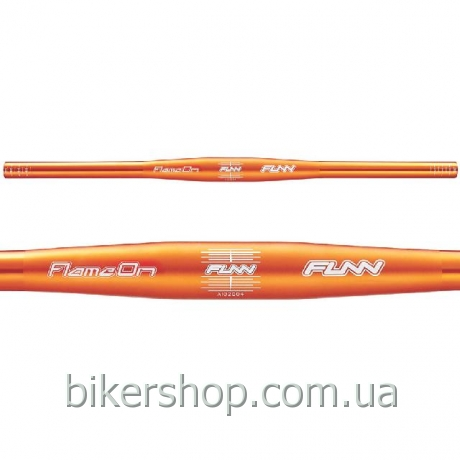 Руль Funn FLAME ON FLAT BAR Ø31.8 , 9° Back, 31.8mm, ano. finish Orange 710mm 0 rise