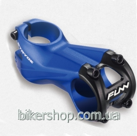 "Вынос Funn STRYGE STEM -5˚Ø35 , -5° Rise, Steer 1-1/8"" Bead Blast Blue w/mirror polish 55mm Ø35mm"