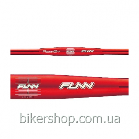 Руль Funn FLAME ON FLAT BAR Ø31.8 , 9° Back, 31.8mm, ano. finish Red 710mm 0 rise