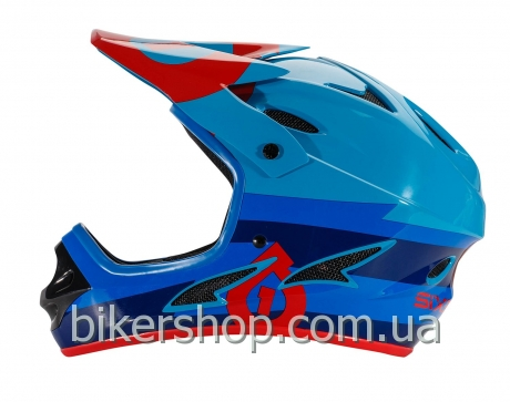 Шлем фулл COMP BOLT HELMET RED/BLUE S (CE)