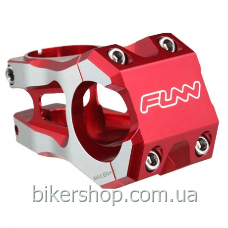 "Вынос Funn FUNNDURO STEM  Ø35  FULL CNC, 0° Rise, Steer 1-1/8"" Red w/ CNC Lining 35mm Ø35mm"