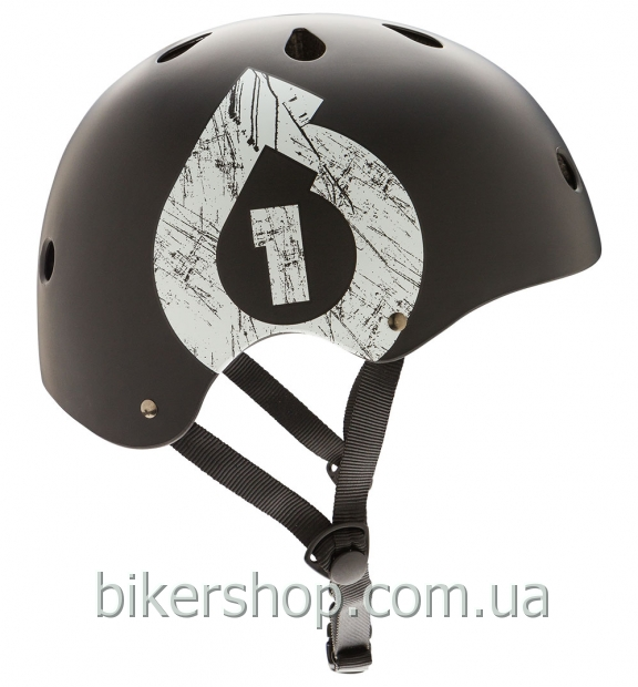 Шлем котелок SixSixOne  DIRT LID ICON MATTE BLACK/WHITE