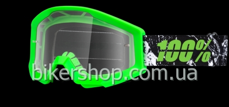 STRATA Moto Goggle Crafty Lime - Clear Lens
