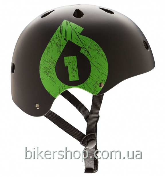 Шлем котелок SixSixOne  DIRT LID ICON MATTE BLACK/GREEN