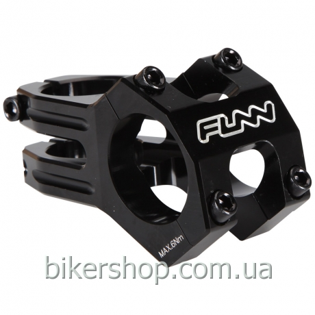 "Вынос Funn FUNNDURO STEM  Ø31.8  FULL CNC, 0° Rise, Steer 1-1/8"" Black 60mm Ø31.8mm"